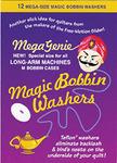 Mega Genie 6943A Magic Bobbin Teflon Washers, Anti Backlash 12Pk for M Bobbin Cases, Longarm Quilting Machines