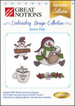 Great Notions Inspiration Collection Snow Pals Licenced Multiformat Embroidery Design CD