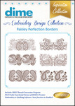 Great Notions #15 Paisley Perfection Borders MultiFormat 20 Embroidery Designs CD