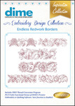 Great Notions #10 Collection Endless Redwork Borders Multiformat Embroidery Designs CD