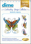 Great Notions #08BDEC Collection Butterfly Majesty Embroidery Designs CD