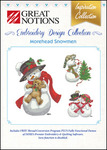 Great Notions Inspiration Collection Morehead Snowmen Licenced Multiformat Embroidery Design CD