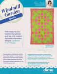"DIME SHQWG1 Windmill Gardens 42.5x64.5"" Quilt Designs CD Blocks, Borders, Sash, Cornerstone"