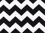 Fabric Finders 15 Yd Bolt 9.33 A Yd 1595 Black Chevron 100% Pima Cotton Fabric 60 inch
