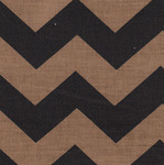 Fabric Finders 15 Yd Bolt 9.33 A Yd 1303-2 Black/Bronze Chevron 100% Pima Cotton Fabric 60 inch