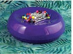 59110: Blue Feather 7104P Grabbit Magnetic Pin Cushion, Purple, +50 Pins