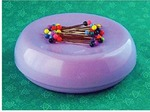 59111: Blue Feather 7104L Grabbit Magnetic Pin Cushion, Lavendar, +50 Pins