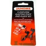 "Janome 234 202216003 Clear View Quilting 1/4"" Seam Foot w/Guides for 9mm Stitch Width Machines"