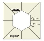 "Sew Steady Westalee WT-SH2x4 Simple Hexagon Quilt Ruler Template 2""x4"""