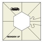 "Westalee WT-SH1.5x3 - Simple Hexagon Template - 1.5""x3"""