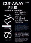 """Sulky Cut Away Plus Stabilizer 7 2/3"""" Inches X 9Yds Yards,"""