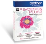 Brother PE-Design PLUS2 New Upgraded Version V1.01 Basic Digitizing and Photo Stitch Embroidery Software for up to 12x8in Hoop Machines