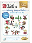 Great Notions 095-INS-GN-D-Christmas Greatest Hits Embroidery Designs CD