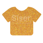 Siser Glitter HTV Heat Transfer Vinyl Sheet- Translucent Orange 12x20""
