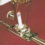 66740: Bernina 008465.72.00 008465.74.00 Foot #22 New, 3 Groove Cording