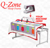 "Q-Zone 102"" Queen Quilting Frame, Adjustable Depth/Height, Quilt Clips, Bungee Clamps"