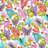 Blank Quilting Pixie Patch 1555-01 White Butterflies