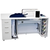 """Horn 8080 Sewing Cabinet 63x40x27""""H 262Lbs Assembled, Electric Lift Platform 31x15.5in Cutout for Brother Luminaire and Baby Lock Solaris Machines"""