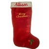 Exquisite CC13339 19'' Plush Embroiderable Christmas Stocking with Zipper