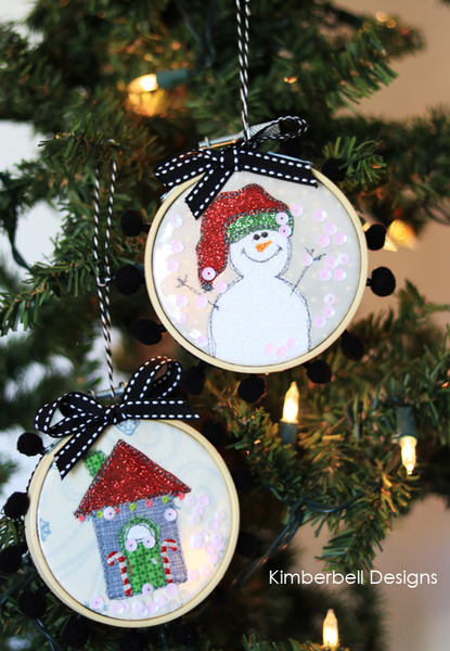 Kimberbell Kd568 Happy Hoop Decor Whimsical Christmas Ornaments Vol 1