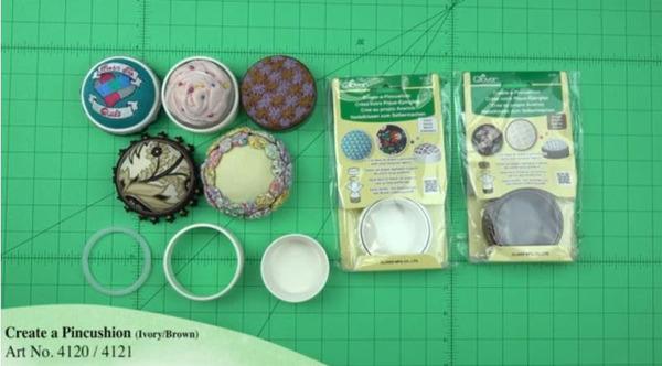 Clover Create-A-Pincushion-Brown 4120