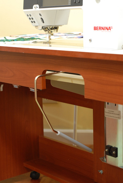 arrow 98700 bertha oak air lift sewing machine cabinet 84x40x35 5 rh allbrands com Sewing Machine Lifts without Cabinet sewing machine air lift mechanism sewing cabinet hardware