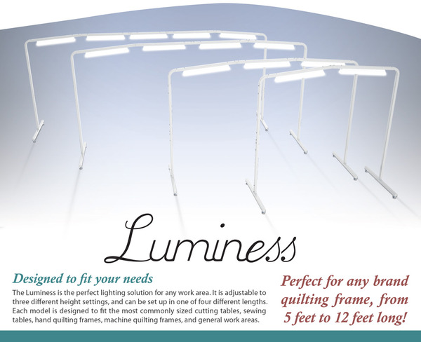 2 Quiltrite Extension for Luminess Free Standing Craft Light Station