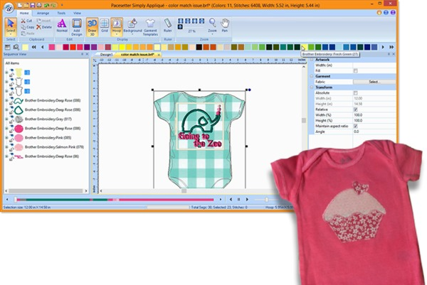 Brother Sabessa Simply Applique Embroidery Software Resize Save