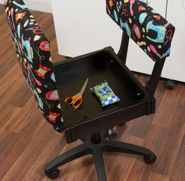 Arrow H7013b Hydraulic Sewing Chair Underseat Storage