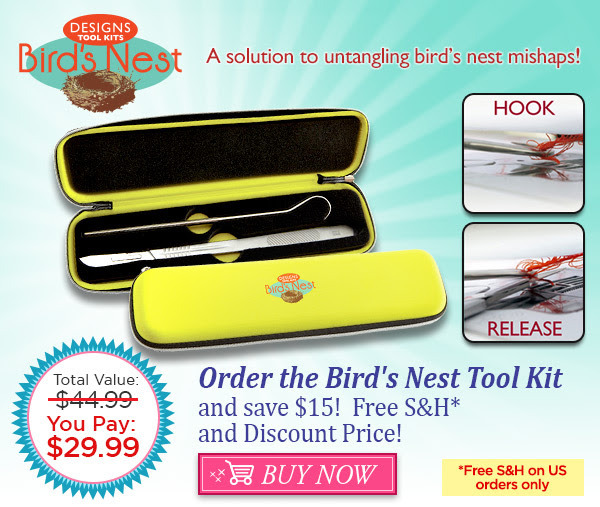 Designs in Machine Embroidery DIME Bird/'s Nest Tool Kit Stitch Releaser BNT1001