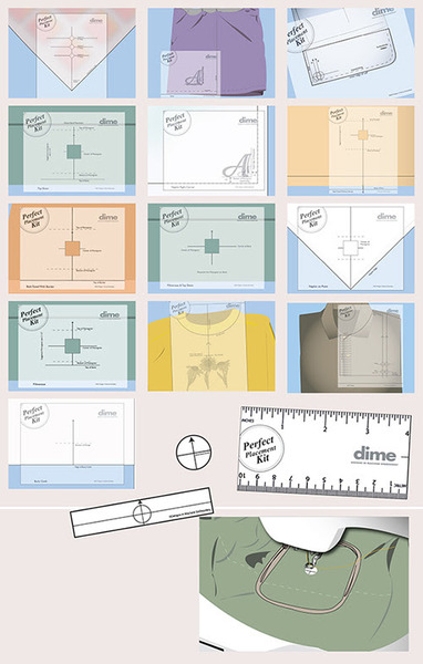 photo regarding Printable Embroidery Placement Ruler identified as Dime PPK0010 Excellent Posture Package 15 Templates 36 Stickers