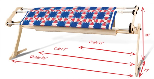 Grace EZ3-FF Fabric Fast Rails, No Baste, Hand Quilting, 45 ...