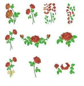 Belindas Studios Rose Mega Combo Embroidery Designs Multi