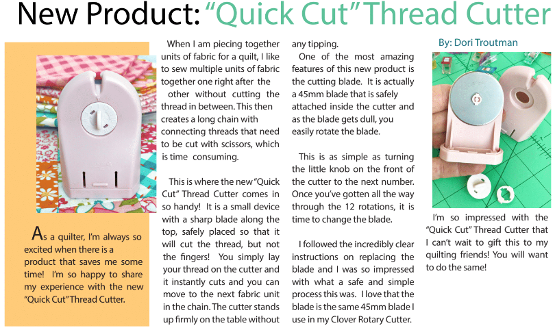 Clover Quick Cut Thread Cutter