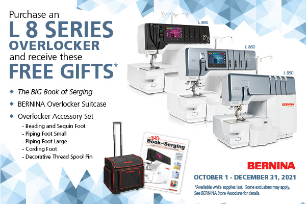 L8 Series Overlocker Free Gifts