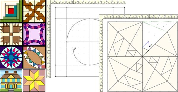 draw pieced blocks
