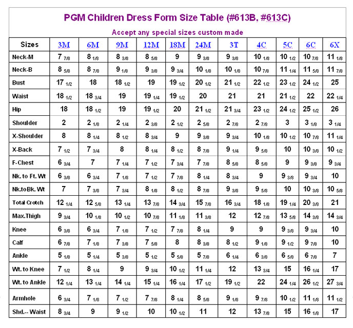 Chinese Clothing Conversion Chart Rebellions